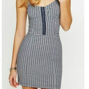 Free People Gingham Blue Dress